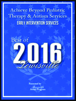 Achieve Beyond 2016 Best of Lewisville Award - Early Intervention Services