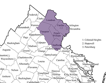 Achieve Beyond provides autism services in these counties in the state of Virginia: